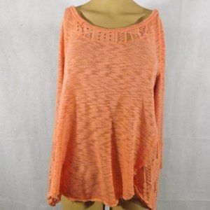Womens ALMOST FAMOUS Sweater - Peach - Sz L